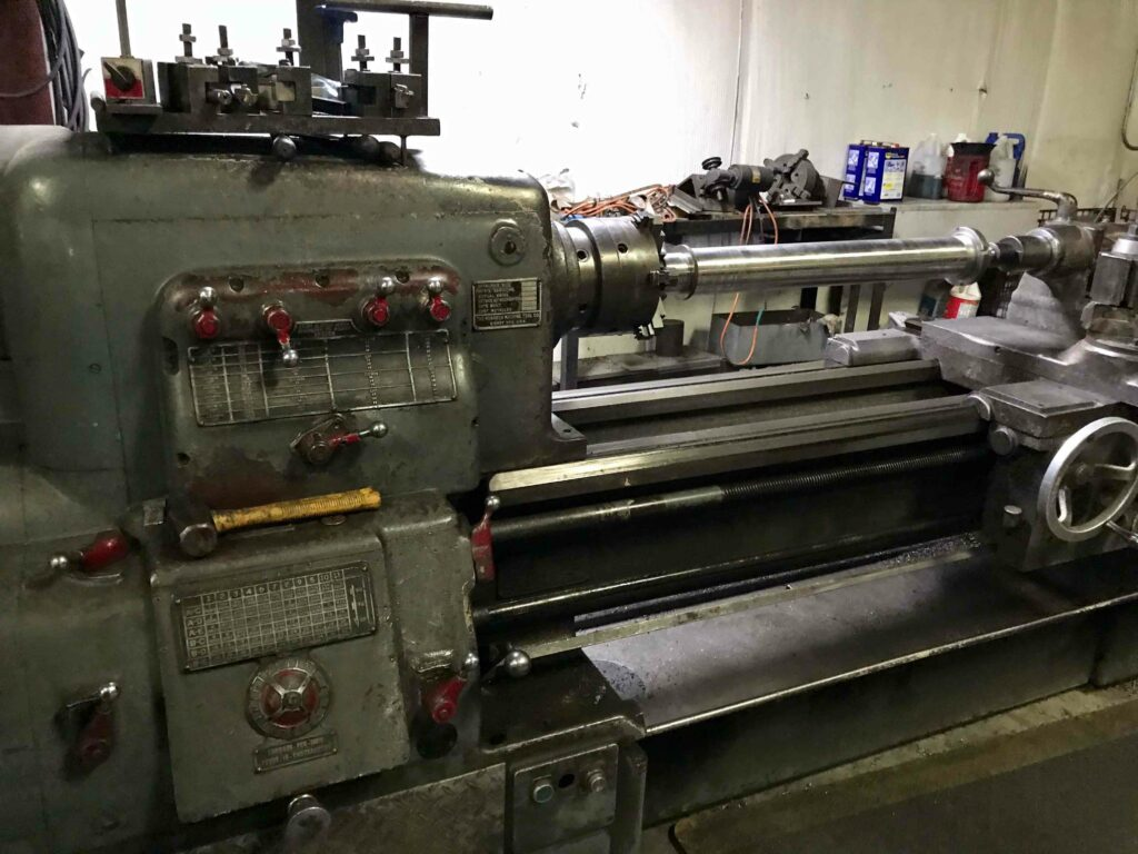 Lathe for 24-hour equipment repair