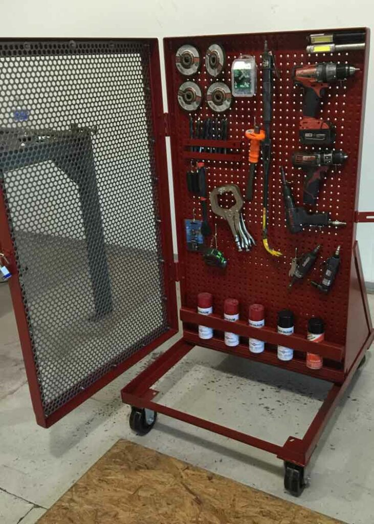 Custom made 5S tool cart