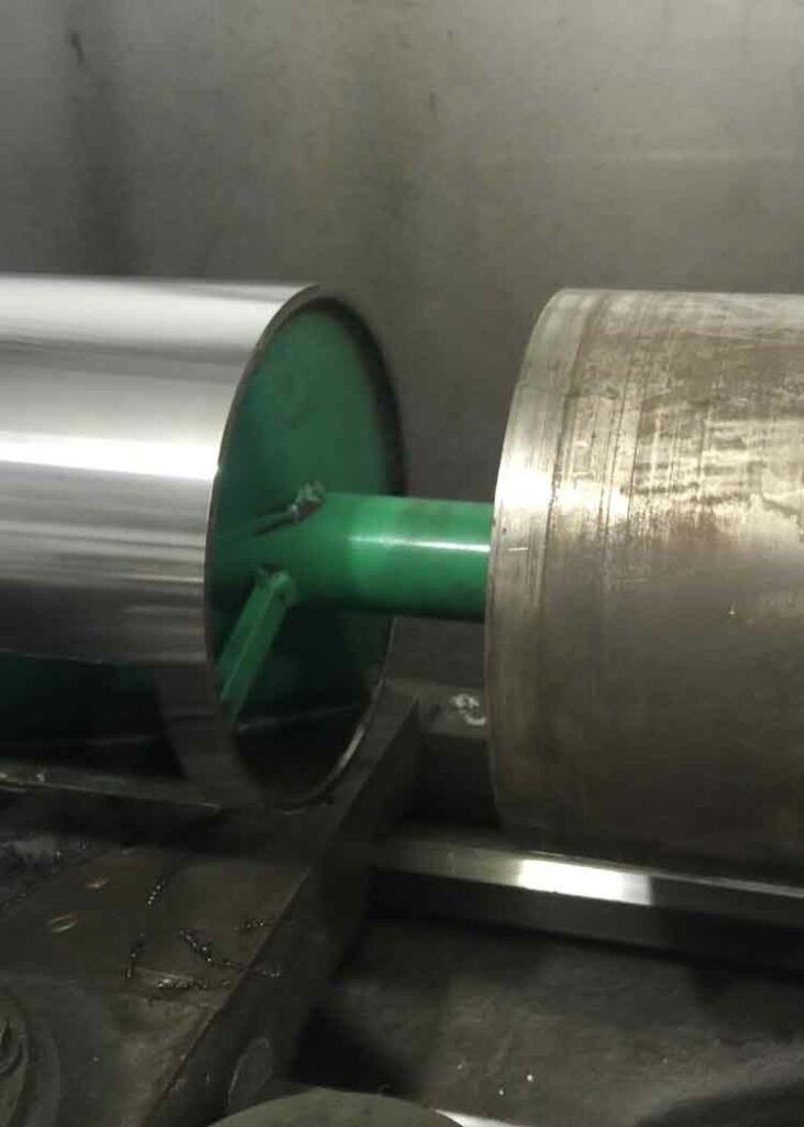 Machining OD of rotor
