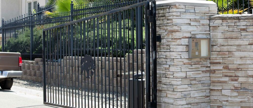 Residential metal iron gate repair